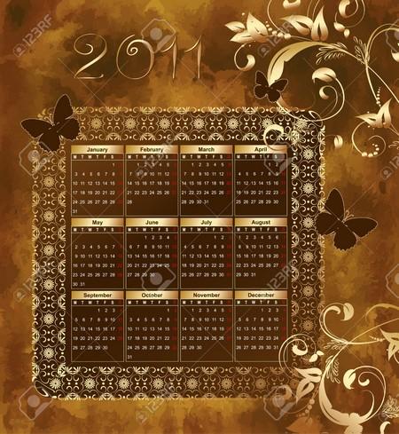 2011 Miffy Gold calendar.