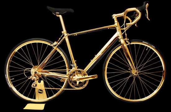24-carat gold bicycle