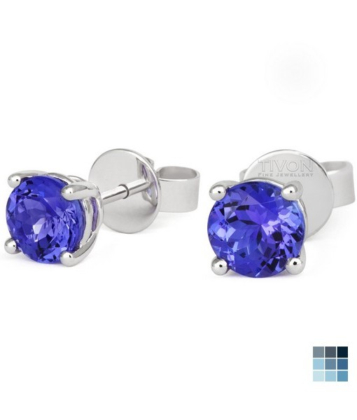 W Hammond Tanzanite Earrings – Brilliant Cut White Gold