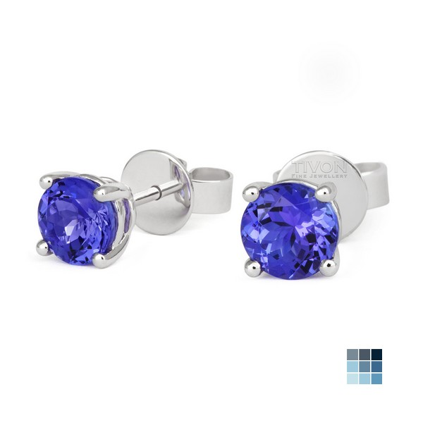 s diamond is tanzanite stud gold oval earrings white image itm loading