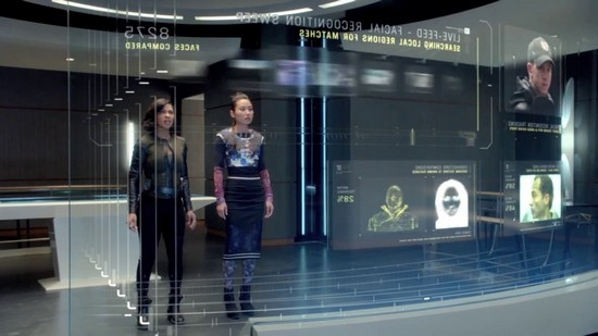 Minority Report-style televisions