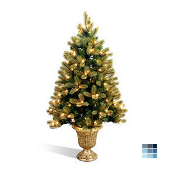 National Tree Feel-Real Downswept Douglas Fir Entrance Tree by Peazz
