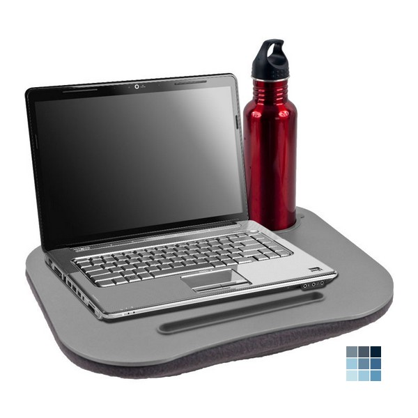 Trademark Commerce Laptop BuddyT Gray Cushion Desk With Pen & Cup Holder by Peazz